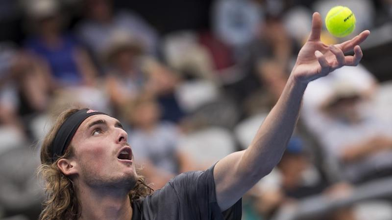 Top seed Stefanos Tsitsipas has lost in the quarter-finals of the Sydney International