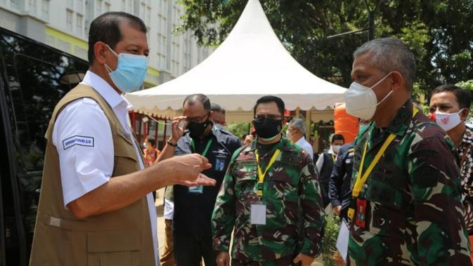 Ketua Satgas Penanganan COVID-19 Doni Monardo sampaikan pihaknya akan kampanyekan Pesan Ibu untuk sosialisasi protokol kesehatan COVID-19 saat melakukan inspeksi Wisma Atlet Kemayoran, Jakarta, Jumat (4/8/2020). (Dok Tim Komunikasi Publik Satgas COVID-19)