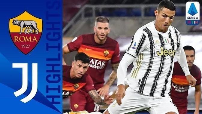 VIDEO: Highlights Liga Italia, Cristiano Ronaldo Selamatkan Juventus dari Kekalahan Lawan AS Roma