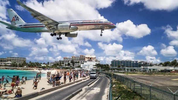 PHOTO: A commercial airline landing at the Princess Juliana International Airport in St Maarten. (Getty Images, file photo)