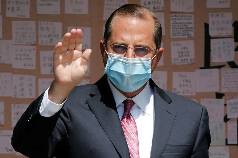 China denounces U.S. health chief's criticism over virus as 'political show'