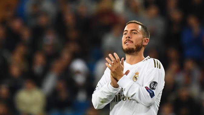 Eden Hazard (100 juta euro) - Real Madrid mendatangkan Hazard selepas kepergian Cristiano Ronaldo ke Juventus. Pemain asal Belgia ini dilabuhkan ke Santiago Bernabeu dengan harga 100 juta euro. (AFP/Gabriel Bouys)