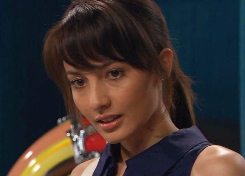Alin portrayed school teacher May Stone on Home and Away in 2009. Photo: Channel Seven