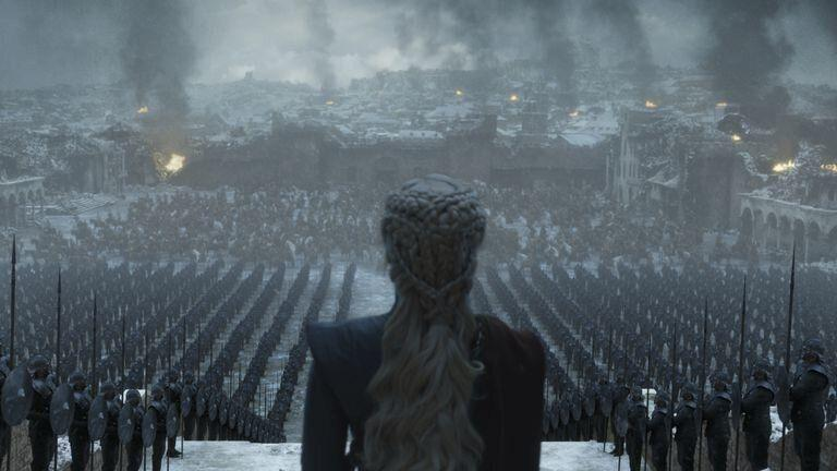 Daenerys admires her handiwork. Photo: HBO