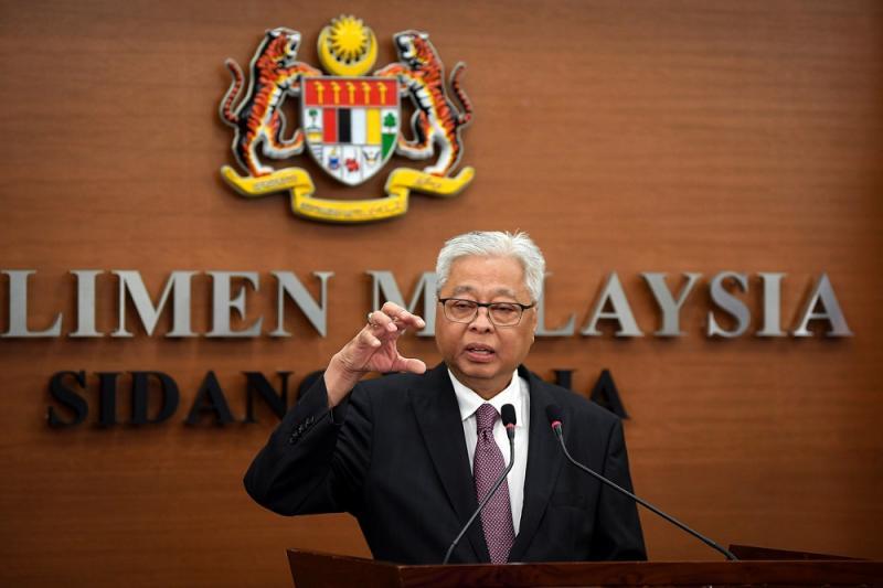 Senior minister Datuk Seri Ismail Sabri Yaakob speaks during a press conference at the Parliament in Kuala Lumpur August 13, 2020. — Bernama pic
