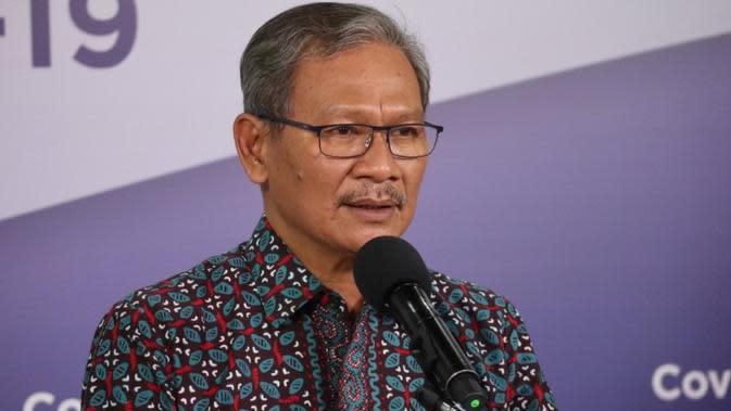 Juru Bicara Pemerintah untuk Penanganan COVID-19 di Indonesia, Achmad Yurianto saat konferensi pers Corona di Graha BNPB, Jakarta, Selasa (9/6/2020). (Dok Badan Nasional Penanggulangan Bencana/BNPB)