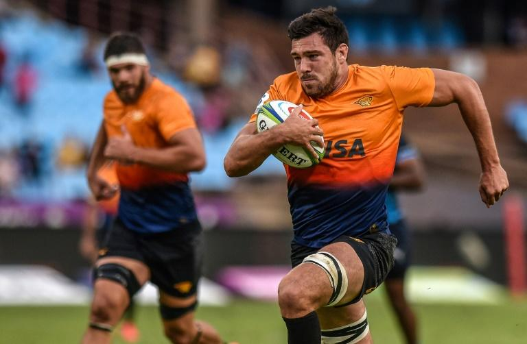 Guido Petti carrying the ball for the  Jaguares