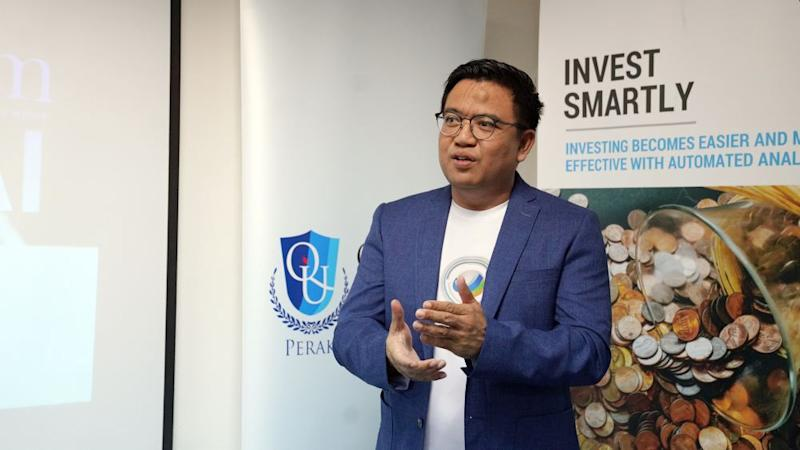 MyFinB president and founder M. Nazri said the idea to have the platform began in 2016. ― Picture courtesy of Quest International University Perak (QIUP)