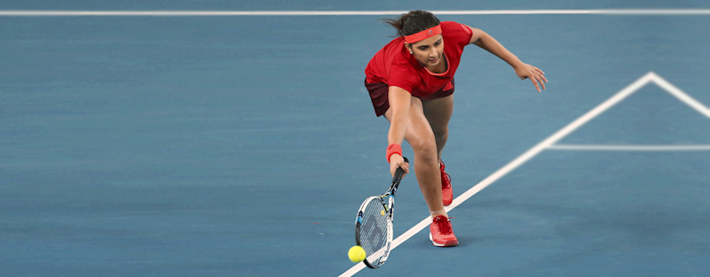 Playing tennis since she was six-years-old, Sania started turned professional in 2003. In the same year, she won the Wimbledon Championships Girls' Doubles title – marking a blazing entry into the sport.