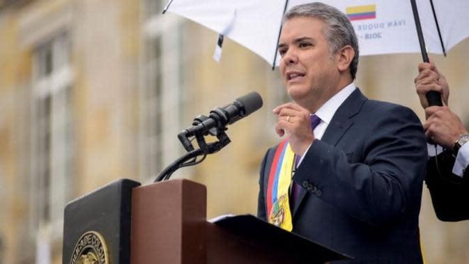 Presiden Kolombia baru terpilih, Iván Duque. (AFP)