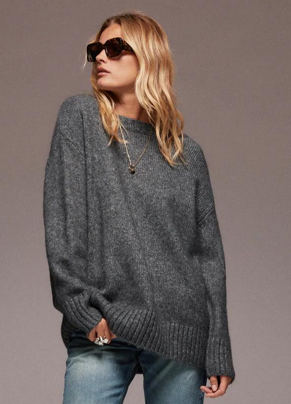 Oversized Knit Sweater. Image via Zara.