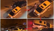 瘋狂女司機駕七人車 倒車逆線撞兩私家車