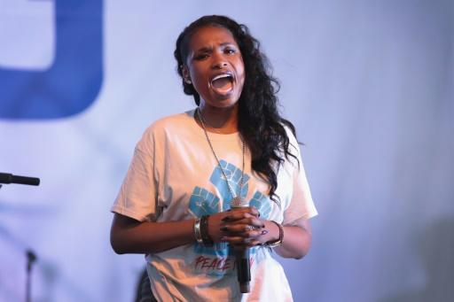 Jennifer Hudson -- shown here at an end of school year peace march and rally in her native Chicago -- will star as Grizabella in the film version of 'Cats'