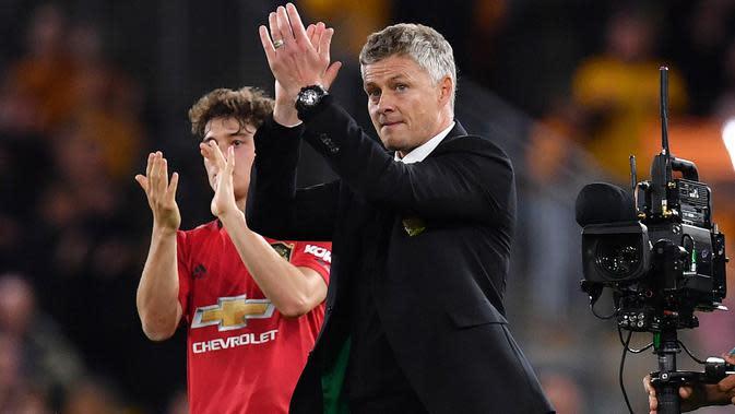 Manajer Manchester United, Ole Gunnar Solskjaer. (AFP/Paul Ellis)