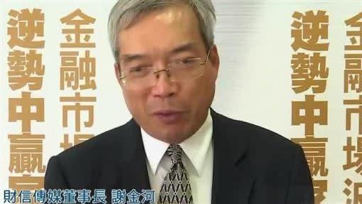 財信傳媒董事長謝金河(圖/資料照)
