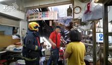 嘉義東市場磚牆崩塌 攤商夫婦被砸中受傷