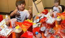 飢餓的3歲男童模仿大人訂外送 用母親手機訂購2千元麥當勞大餐