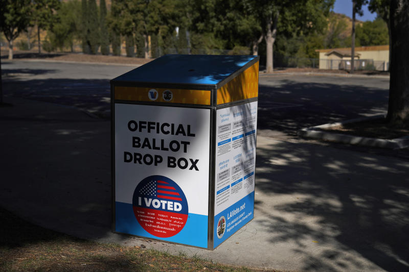 Election 2020 California GOP Ballot Boxes
