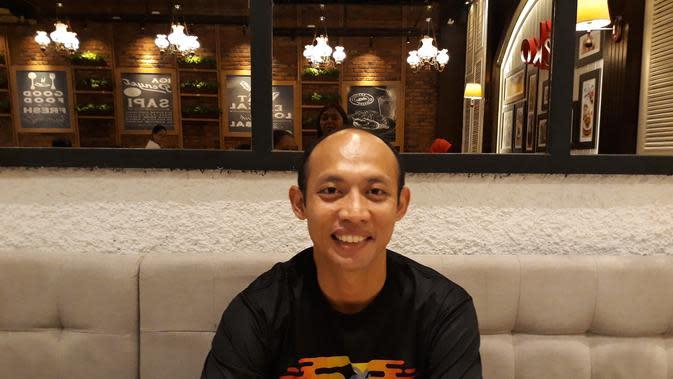 Mantan sprinter andalan Indonesia, Suryo Agung Wibowo. (Bola.com/Yus Mei Sawitri)