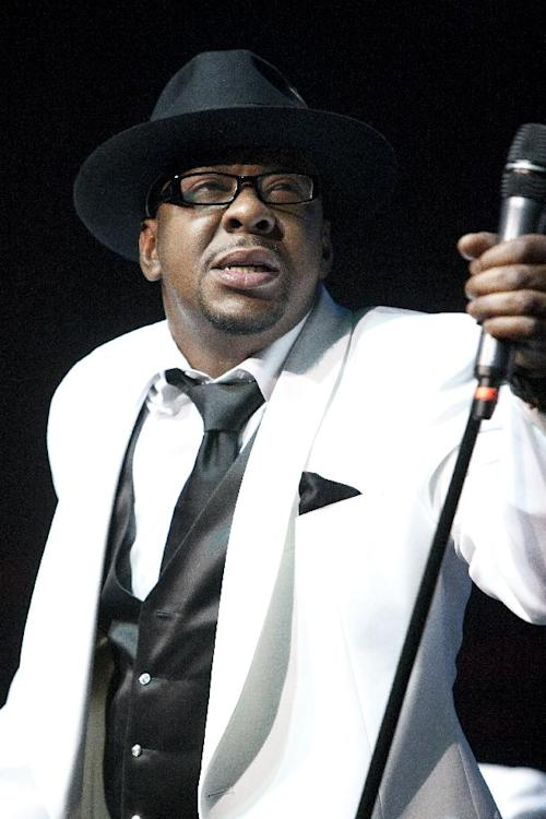 FILE - In this Feb. 18, 2012 file photo, singer Bobby Brown, former husband of the late Whitney Houston performs with New Edition at Mohegan Sun Casino in Uncasville, Conn. Brown was arrested Monday, March 26, 2012, after failing a field sobriety test. He was initially pulled over after a California Highway Patrol officer saw him talking on his cell phone without a hands-free unit. (AP Photo/Joe Giblin, file)