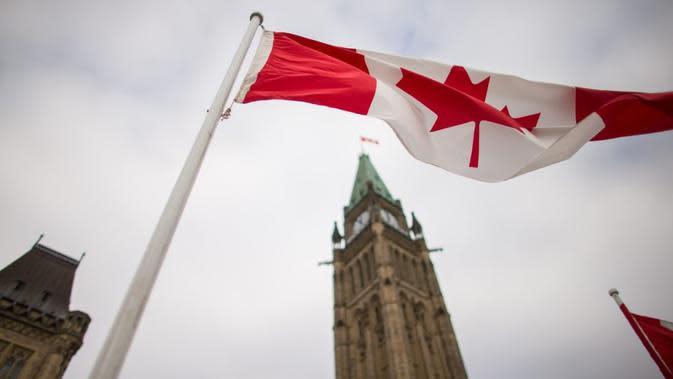 Ilustrasi bendera Kanada (AFP/Geoff Robins)