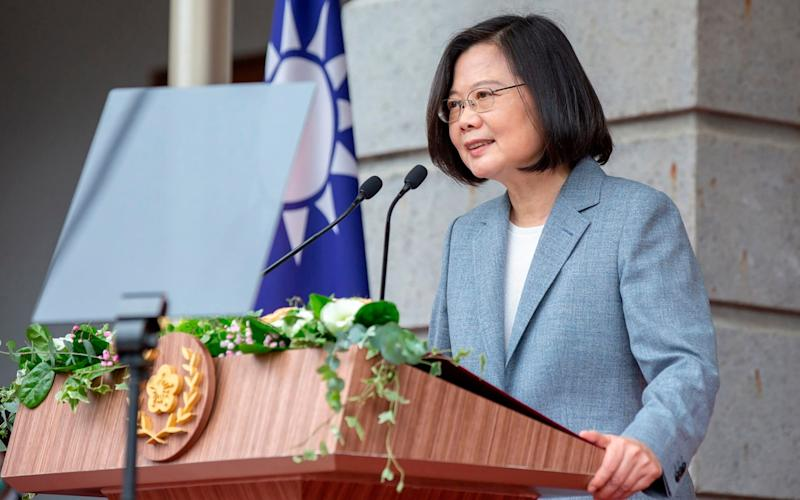 The high-level US visit will be a boost to Taiwan's President Tsai Ing-wen - HOGP/AP
