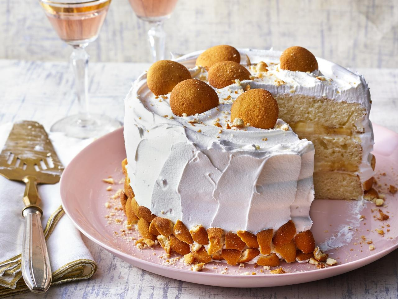 """<p><em>One of our testers called this """"the ultimate banana pudding in cake form."""" Tender laters of cake, creamy vanilla custard, and bananas come together to create a mouthwatering dessert. Warning: There won't be leftovers. </em></p> <p><a href=""""https://www.myrecipes.com/recipe/banana-pudding-cake"""">Banana Pudding Cake Recipe</a></p>"""