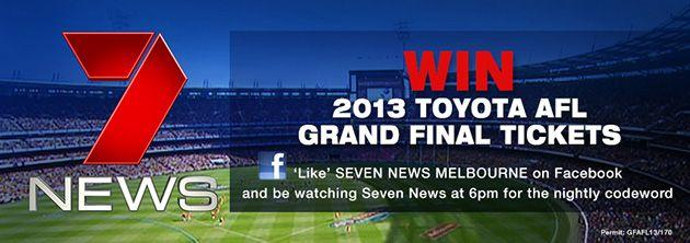 7News and Toyota AFL Grand Final Ticket Giveaway