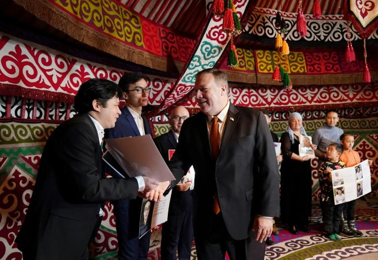 Pompeo meets with Kazakhs who say their family members are detained in Xinjiang