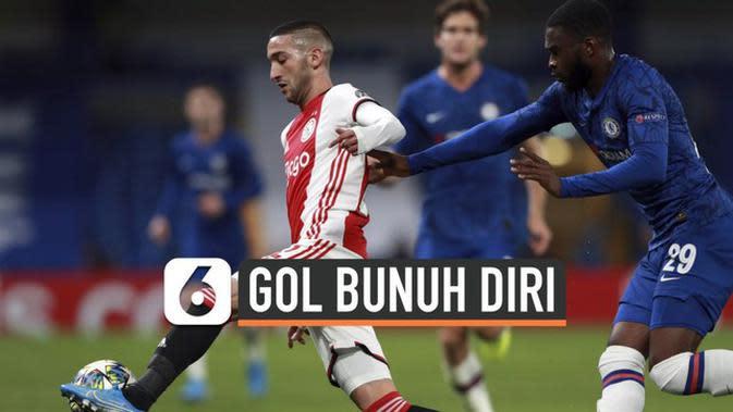 VIDEO: Laga Panas Ajax Kontra Chelsea Diwarnai Gol Bunuh Diri