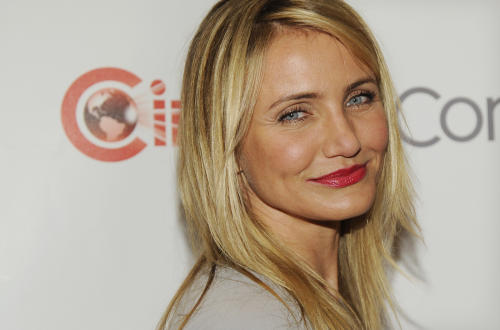 """Cameron Diaz, a cast member in the upcoming film """"The Other Woman,"""" poses before the 20th Century Fox presentation at CinemaCon 2014 on Thursday, March 27, 2014, in Las Vegas. (Photo by Chris Pizzello/Invision/AP)"""