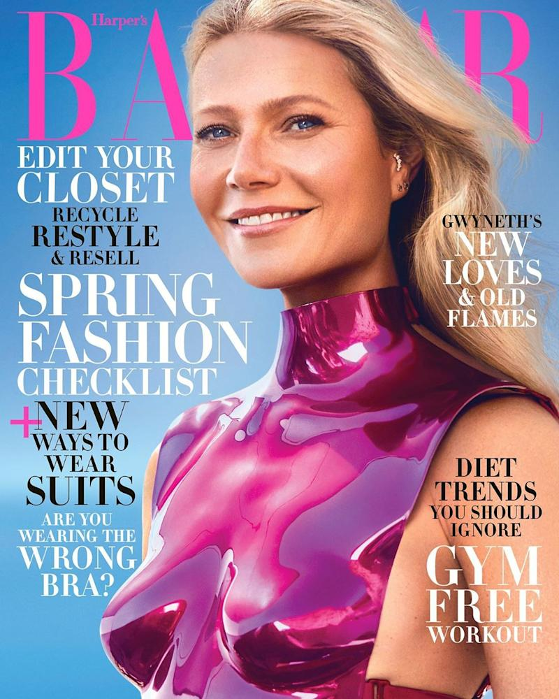 Gwyneth Paltrow talks about her wellness empire, Goop, and why nobody in Hollywood is messing with her anymore in the January 2020 Harper's Bazaar. (Photo: Harper's Bazaar)