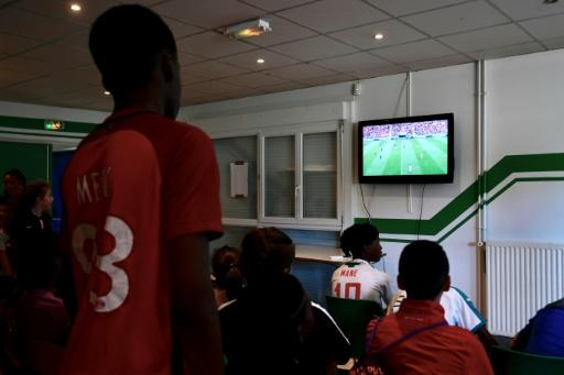 Young members of the Bondy football club have been watching France, and Kylian Mbappe, play in the World Cup