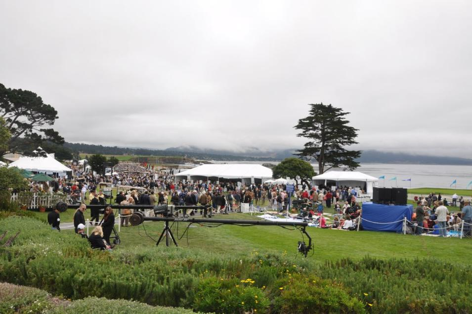 Pebble Beach crowds