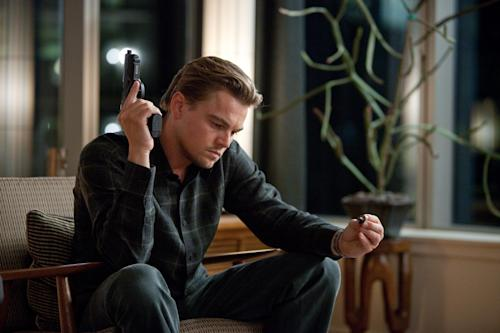 """FILE - In this film publicity image released by Warner Bros., Leonardo DiCaprio is shown in a scene from """"Inception."""" (AP Photo/Warner Bros., Melissa Moseley)"""