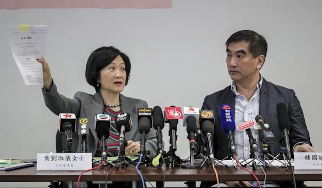 Regina Ip and Felix Chung visited the US in March. Photo: Edmond So