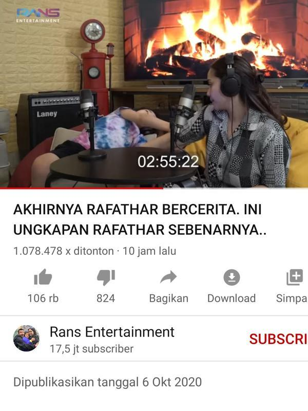 Unggahan Nagita Slavina. (Foto: YouTube Rans Entertainment)
