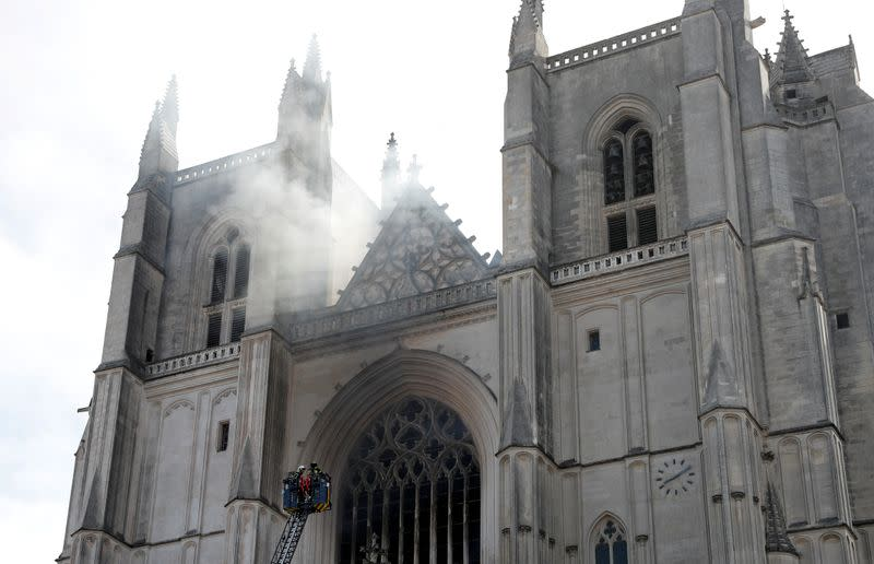 French police free man questioned over Nantes cathedral fire