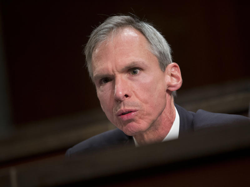 FILE - In this April 14, 2016 file photo Rep. Dan Lipinski, D-Ill. speaks on Capitol Hill in Washington.Lipinski is running for re-election against Marie Newman in the March 17, 2020 Illinois primary. (AP Photo/Pablo Martinez Monsivais File)