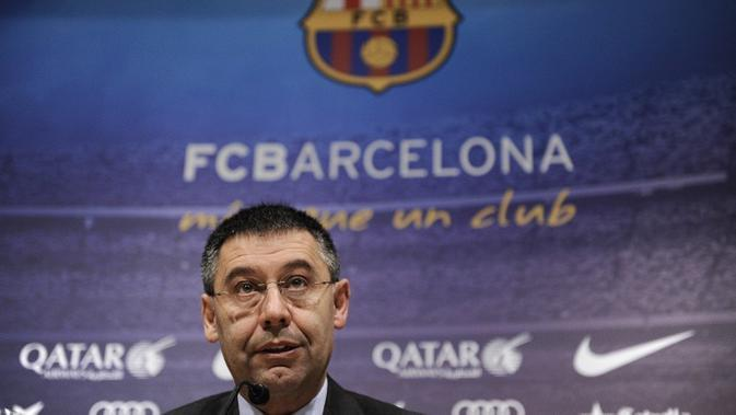 Presiden Barcelona Josep Bartomeu María (JOSEP LAGO / AFP)