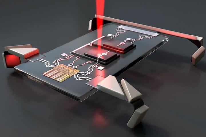 Laser microbot