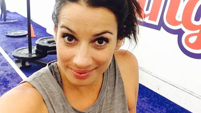 Maz in a photo from her Instagram which shows her working out before heading for a 'pub lunch'. Source: Instagram