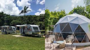 本地露營地點推介!浪漫圓拱型營帳抬頭可看到星空 防蚊遮光露營車適合一家大小