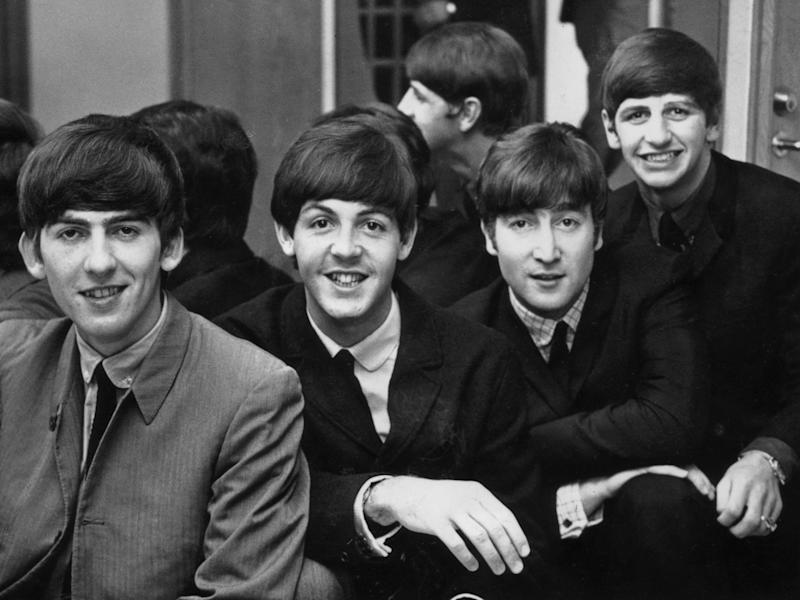 From left to right: George Harrison (1943 - 2001), Paul McCartney, John Lennon (1940 - 1980) and Ringo Starr, in Sweden, 1963 (Getty Images)