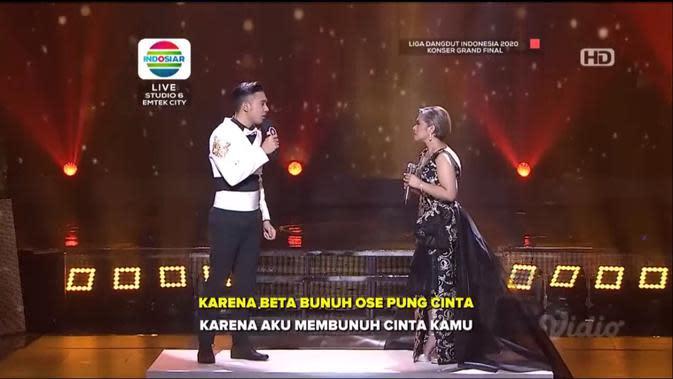 LIDA 2020 Konser Grand Final live di Indosiar, Minggu (27/9/2020) malam, menampilkan segmen duet dengan Ruth Sahanaya