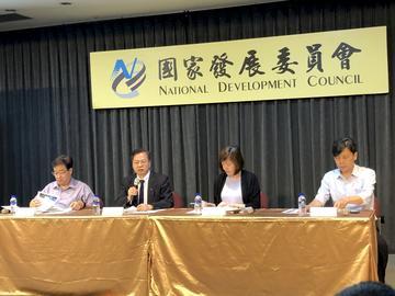 國家發展委員會於13日通過「2021年至2024年國家發展計畫」。(楊文君攝)