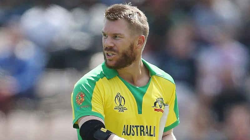 David Warner made a solid return on English soil. Pic: Getty
