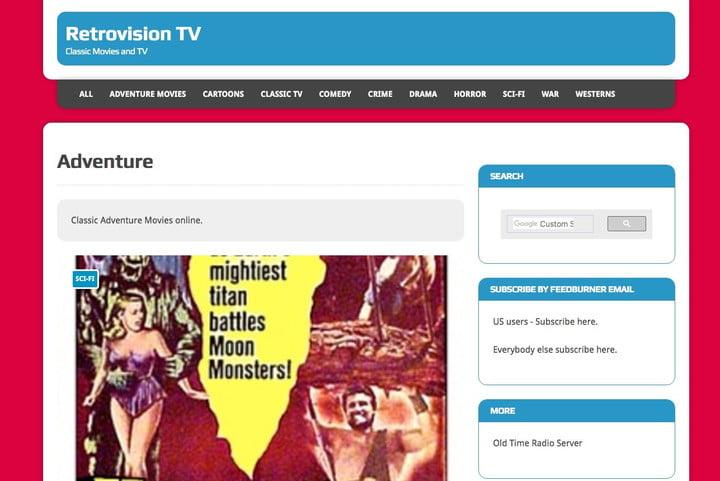 Retrovision free movies
