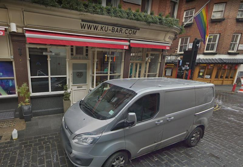 Pictured is Ku Bar in London. The court heard Mr Michels attended the bar on August 16 before meeting up with Gerald Matovu via the dating app Grindr.