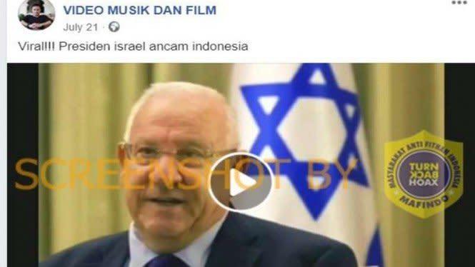Presiden Israel Ancam akan Buat Indonesia seperti Palestina, Faktanya